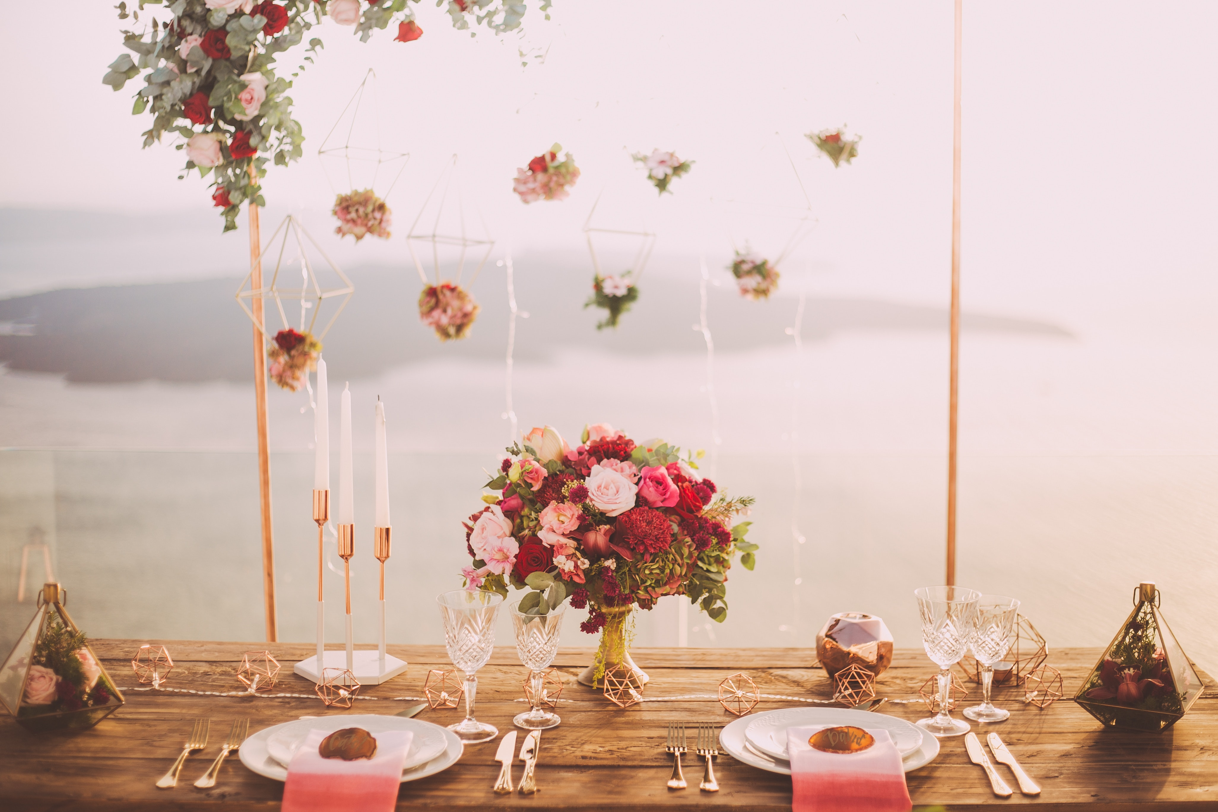 Tapered Candles and Table Setting