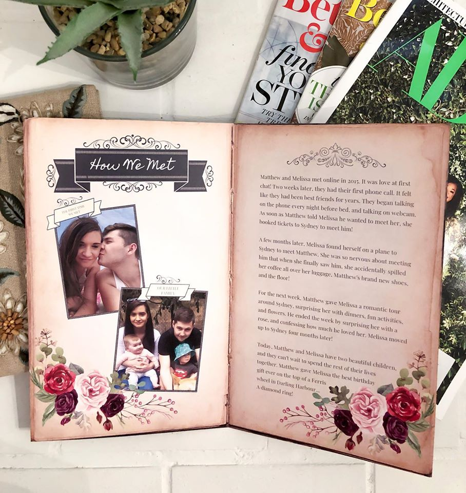 Set your wedding apart with book-style wedding invitations